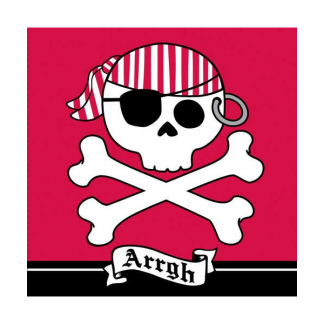 Pirate Red Luncheon Napkins (16)