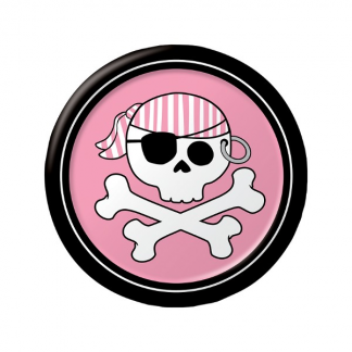 Pirate Pink Plates (8)
