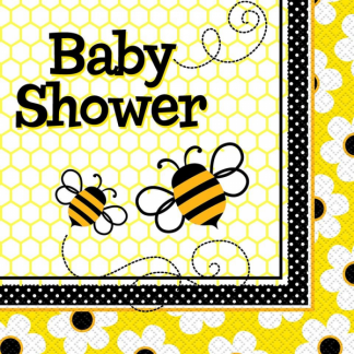 Busy Bumble Bee Baby Shower Napkins (16)
