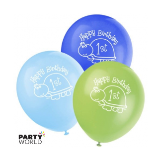 Turtle 1st Birthday Balloons (8)