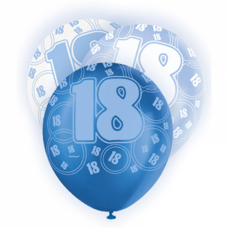 Birthday 18th Balloons Blue
