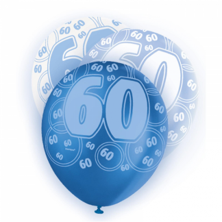 Birthday 60th Balloons Blue