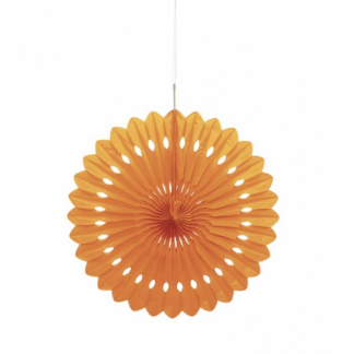 Orange Decorative Fan 16in