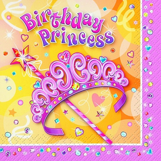 Pretty Princess Luncheon Napkins (16)