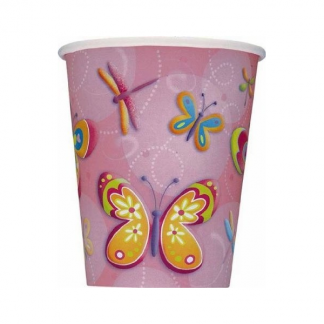 Butterfly & Dragonflies Party Cups (8)