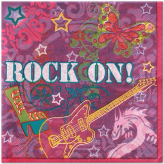 Rock On Luncheon Napkins (16)