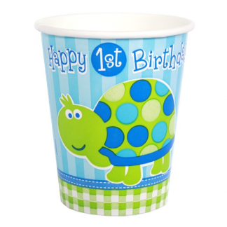 Turtle 1st Birthday Cups (8)