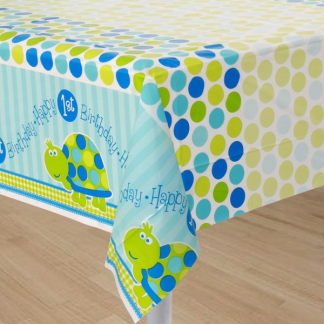 Turtle 1st Birthday Table Cover