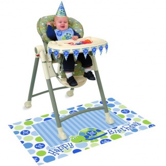 Turtle 1st Birthday High Chair Set