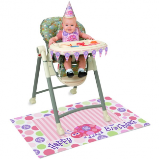 Pink Ladybug 1st Birthday High Chair Kit