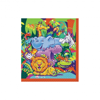 Smiling Safari Luncheon Napkins (8)