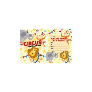 Circus Invitation Pad (20)