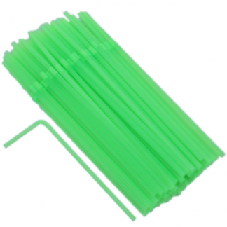 Green Flexible Straws (50)
