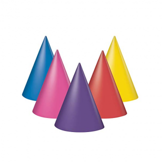 Mixed Colour Party Hats (8)