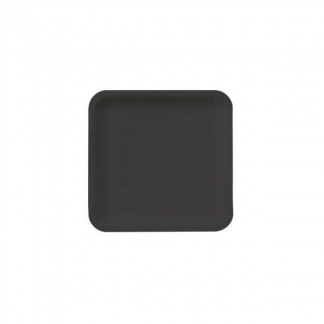 Midnight Black Square Paper Plates 9in (14)