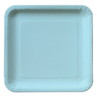Baby Blue Square Plate 9in (14)