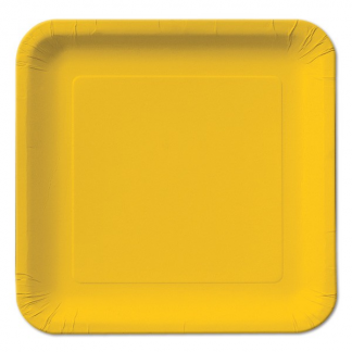 Sunflower Yellow Square Plate 9in (14)