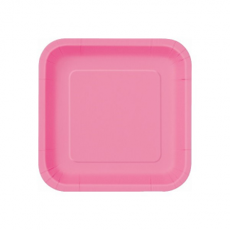 Hot Pink Square Plate 7in (16)