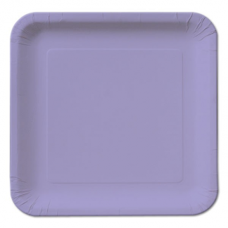 Lavender Square Paper Plates 9in (14)