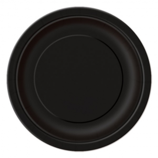 Black Round Paper Plates 7in (8)