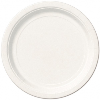 White Round Paper Plates 9in (8)