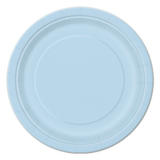 Baby Blue Round Plate 9in (8)