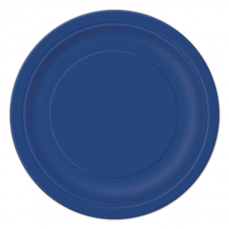 Royal Blue Round Paper Plates 7in (8)
