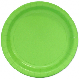 Lime Green Round Paper Plates 9in (8)