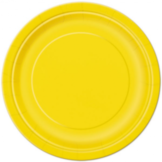 Sunflower Yellow Round Paper Plates 9in (8)
