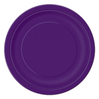 Purple Round Paper Plates 7in (8)