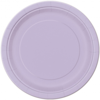 Lavender Round Paper Plates 7in (8)