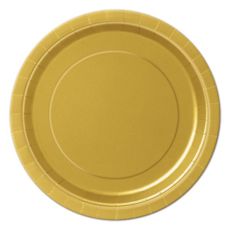 Gold Round Paper Plates 7in (8)