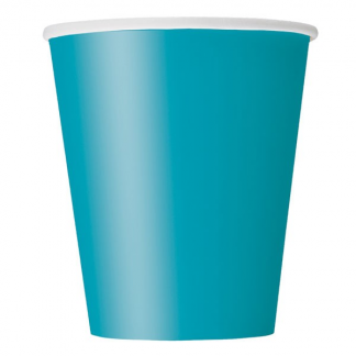 Caribbean Teal Paper Cups (8)