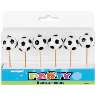 Soccer Party Candles (6)