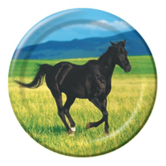 Wild Horse Party Plates 7in (8)