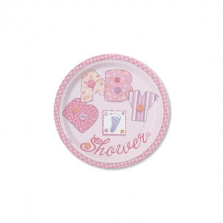 Baby Pink Stitching Plate 7 inch (8)