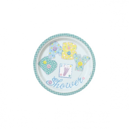 Baby Blue Stitching Plate 7inch (8)