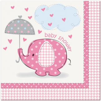Umbrellaphants Pink Napkins (16)