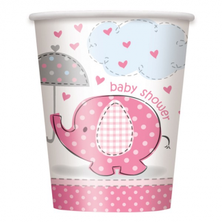 Umbrellaphants Pink Cups (8)
