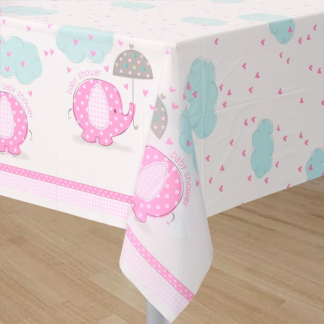 Umbrellaphants Pink Table Cover