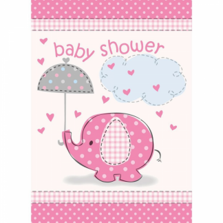 Umbrellaphants Pink Invitations (8)