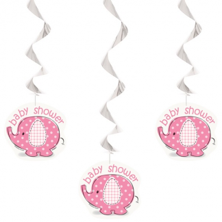 Umbrellaphants Pink Hanging Decorations (3)