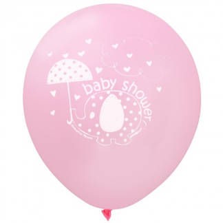 Umbrellaphants Pink Baby Shower Balloons (8)