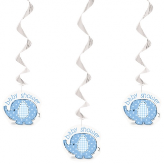 Umbrellaphants Blue Hanging Decorations (3)