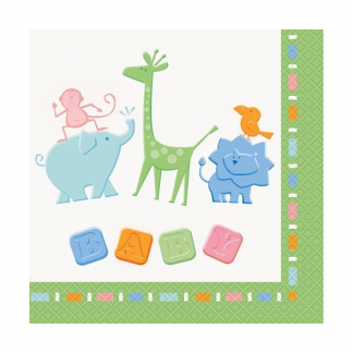 Baby Jungle Animals Luncheon Napkins (16)