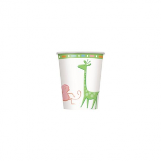 Baby Jungle Animals Paper Cups (8)