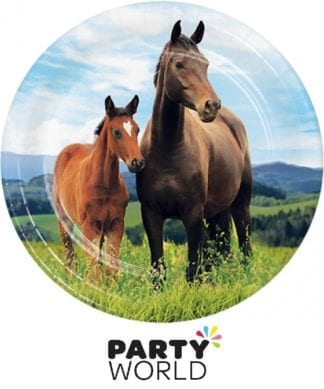 Horse And Pony Party Plates 7in (8)