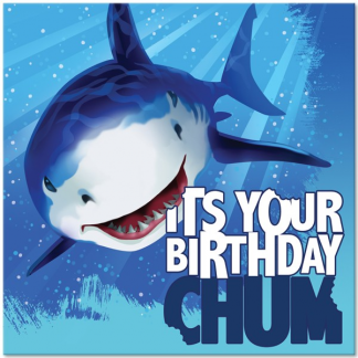 Shark Birthday Luncheon Napkins (16)