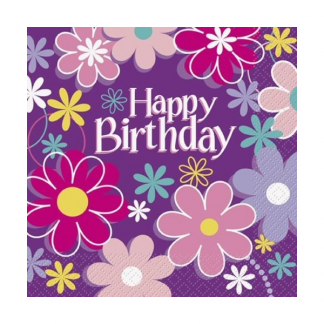 Birthday Blossom Party Napkins (16)