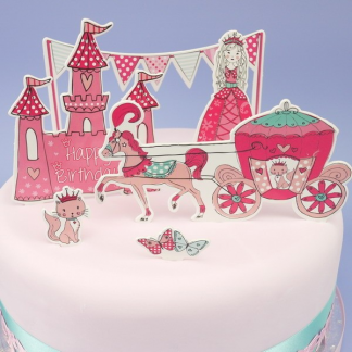 Pink Princess Cake Toppers